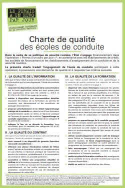 Charte de qualité des écoles de conduite